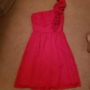 Raspberry 1 Shoulder Dress